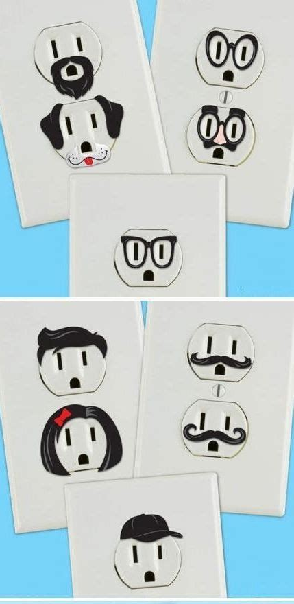 Creative And Wall Socket Stickers by Some Socket Expression Stickers These Four Walls