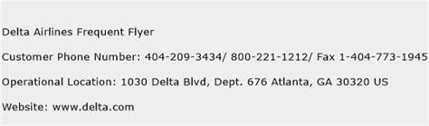 delta customer service phone delta airlines frequent flyer customer service phone