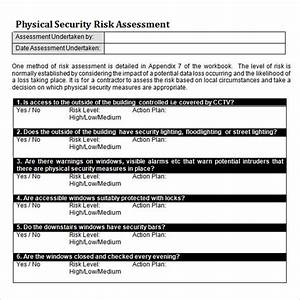 10 sample security risk assessment templates to download With physical security survey template