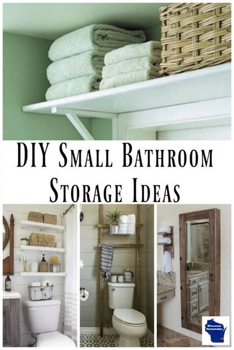 Diy Small Bathroom Ideas by Diy Small Bathroom Storage Ideas Wisconsin Homemaker