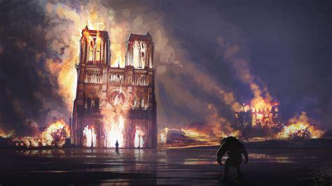 notre dame fire art paris france hd travel wallpapers hd