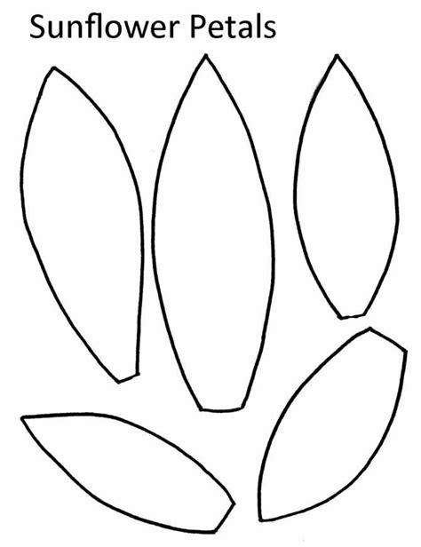 sunflower outline printable giant paper sunflower