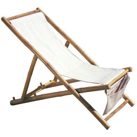 chaise bambou chaise longue de jardin pliable en bambou dim h 100 x