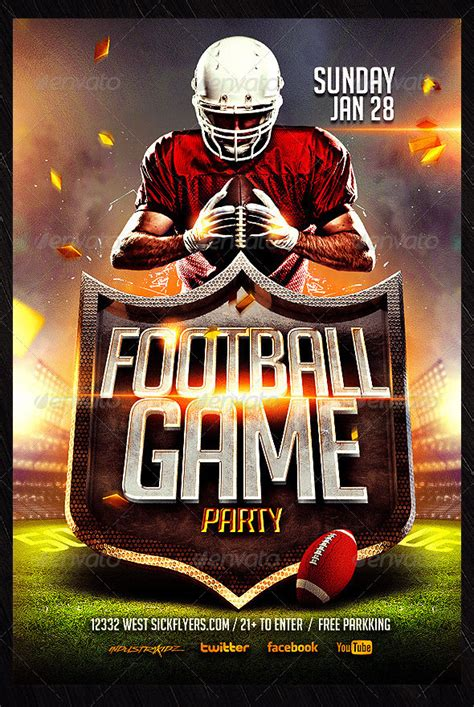 football flyer templates psd eps ai indesign