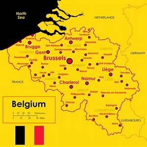 Carte Du Monde Liège : carte grande villes belgique carte grande villes de la belgique ~ Teatrodelosmanantiales.com Idées de Décoration