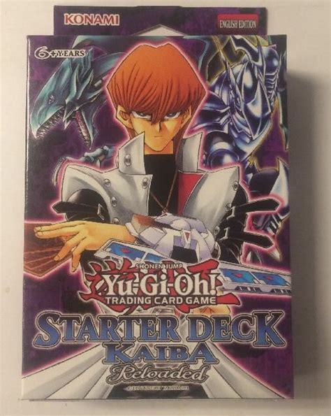 Original Yugioh Starter Deck List by Yugioh Starter Deck Kaiba Reloaded 1st Edition Brand New