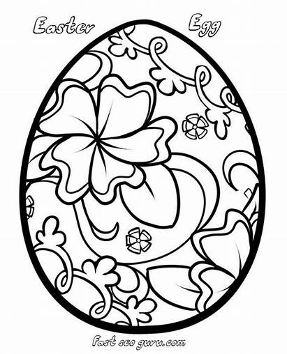 Easter Egg Coloring Decorating Pages