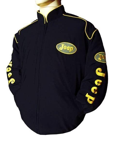 jeep jacket black gold logo easy rider fashion
