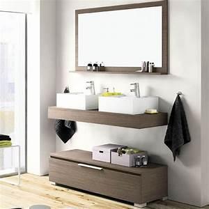 plan vasque salle de bain 120cm meuble a poser options With meuble vasque a poser salle de bain
