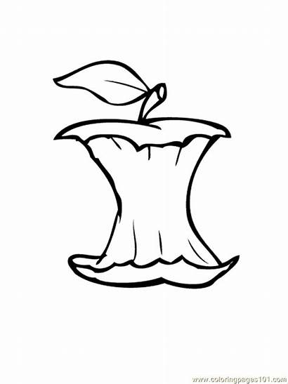 Apple Core Coloring Pages Apples Colouring Printable