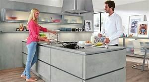 Nobilia Küchen Fronten : design k chen im sch nsten betonoptik geplant ~ Orissabook.com Haus und Dekorationen