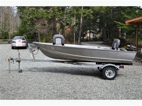 Aluminum Boats Gregor by Gregor 12ft Welded Aluminum Boat On Trailer Port Alberni