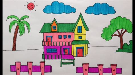drawing coloring  story house  kid