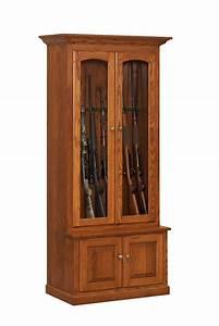 Custom Amish Wooden Gun Cabinets and Corner Gun Cabinets