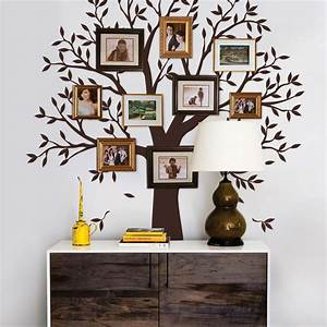 narrow family tree wall decal chestnut brown small 625 With kitchen cabinets lowes with family tree wall art stickers