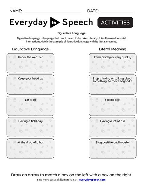 3 free figurative language worksheets t