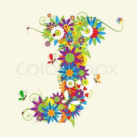 letter d floral design stock vector 169 kudryashka 3233753 letter j floral design see also letters in my gallery 40767