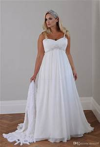 2018 plus size casual beach wedding dresses spaghetti With casual plus size beach wedding dresses