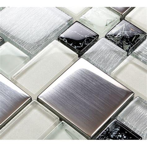 stainless steel tile metallic backsplash tile brush 304 stainless steel metal