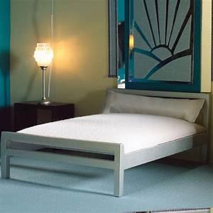 Lit 2 Places Moderne : lit moderne 2 places bois chrome ~ Teatrodelosmanantiales.com Idées de Décoration