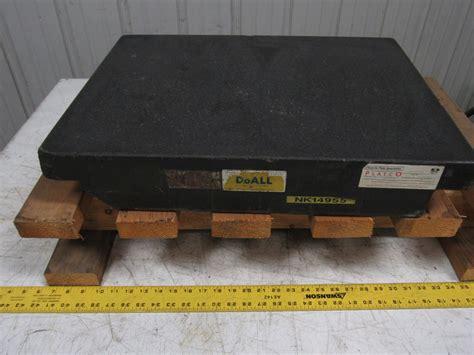 doall 24 quot x18 quot x4 quot 2 ledge granite inspection surface plate