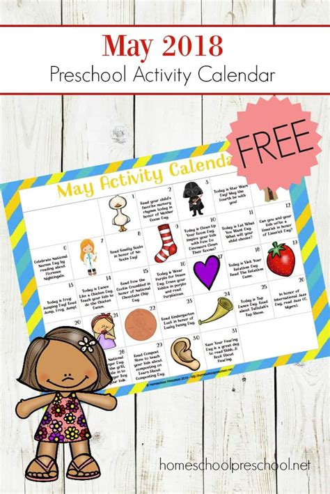 free printable preschool activity calendar for may 478 | preschool activity calendar