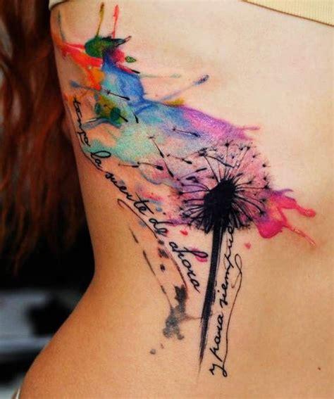 dandelion tattoo designs   adored pretty designs
