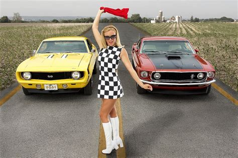 Camaro Vs Mustang Wallpaper by 1969 Chevy Camaro Ss Ford Mustang Mach 1 By Roman Coia