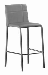 Chaise De Bar Haute : chaise haute de bar simili gris majesty ~ Teatrodelosmanantiales.com Idées de Décoration