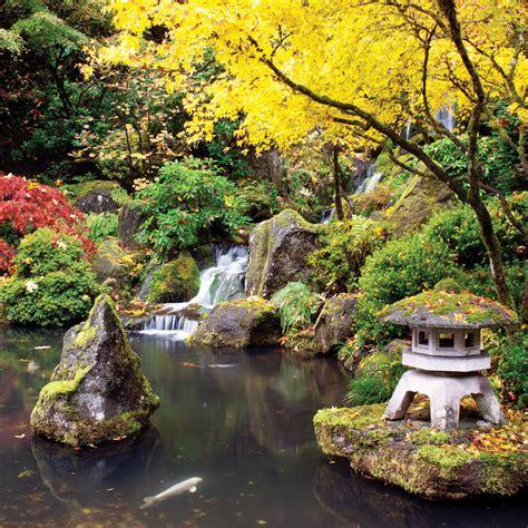 portland japanese garden portland or sunset
