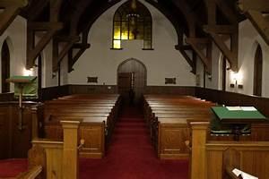 Free Empty Church Pews Stock Photo