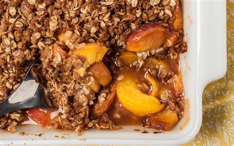 Easy Peach Crisp Recipe   Chowhound