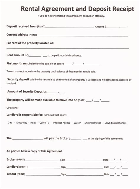 17478 tenant lease form printable sle rent agreement form form free printable