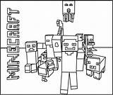 Minecraft Coloring Pages Characters Games sketch template