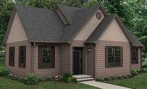 Dark windows with 2 shades of brown siding - I would put ...