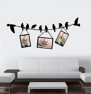 Birds on a wire with frames - Divalicious