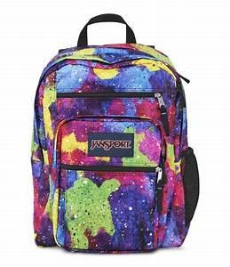 Jansport Big Student Backpack Multi Neon Galaxy