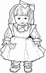 Doll Coloring Dolls Pages Coloriage Print Baby Jouets Cute Shoppies Printables Dessin Little Et Kid Fun Templates Books Return Main sketch template