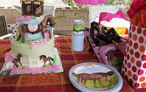 Kids Birthday Party With A Beautiful Horse Farm Cake
