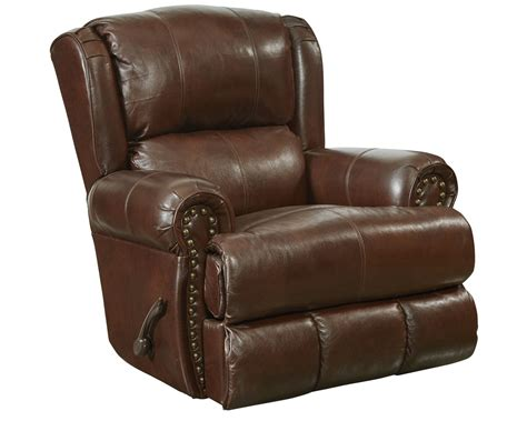 leather glider recliner with catnapper duncan top grain leather touch deluxe glider