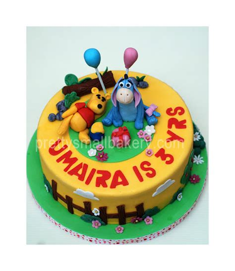 kek birthday po  pooh  friends utk umaira puchong perdana shah alam prettysmallbakery