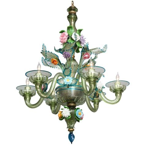 vintage murano glass chandelier light lighting