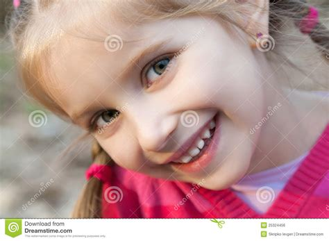 Little Girl Smiling Royalty Free Stock Image  Image 25324456