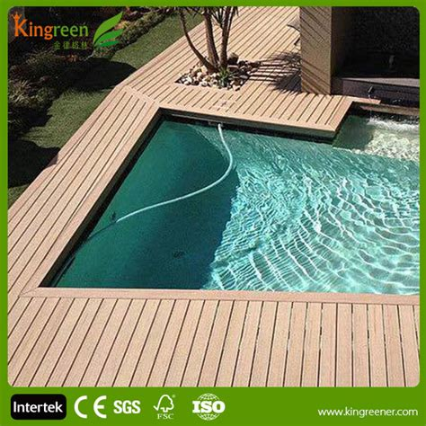 hidden fasteners design swimming pool composite decking