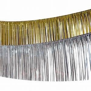 Deko Gold Silber : lametta girlande deko fransengirlande foliengirlande glitzergirlande dekogirlande ~ Sanjose-hotels-ca.com Haus und Dekorationen