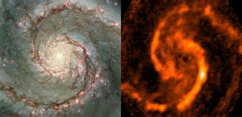 gas clouds  whirlpool galaxy yield important clues supporting theory  spiral arms