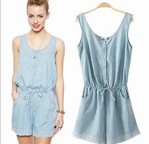2014 Women Girl Washed Jeans Denim Casual Jumpsuit Romper Overall Shorts Jeans Short Pants ...