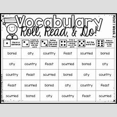 Vocabulary Roll, Read, & Do! Mcgrawhill Wonders First Grade Vocabulary Words