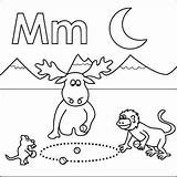 Letter Coloring Alphabet Preschool Abc Mouse Moon Monkey Moose Mountains Crafts Marbles Letters Storytime Coloringpages4u Books Theme Animal Dora Kdo sketch template