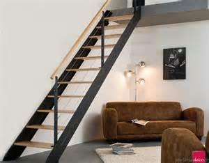 Escalier Modulable Sogem by Escalier Adaptable 11 Marches En H 234 Tre Naturel Et Acier
